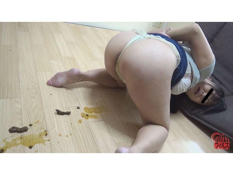 縄で拘束した女の子に浣腸でウンコお漏らしさせる動画 拘束M女悶絶浣腸漏らし